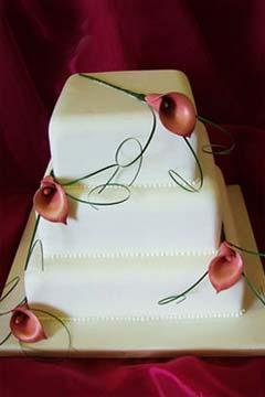 calla lilly wedding cakes