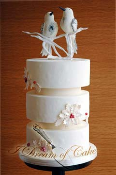 Art Deco Christmas Cake : Festive Christmas Wedding Cakes Gallery