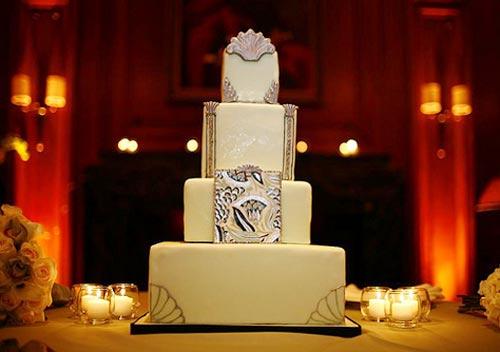 art deco wedding cake designs