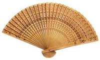 5th year anniversary gift wooden fan