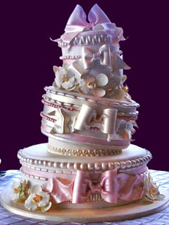 amazing whimsical wedding cake