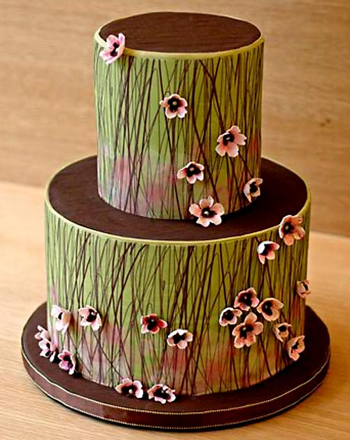 Cake Designs By Jackie Brown : Eye Candy: Green Wedding Cakes - Reception - Project ...