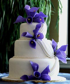 calla lilly wedding cakes