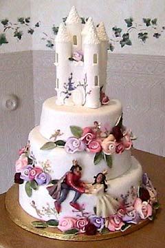 Three Tier Fairy Tale Castle Cake