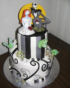 Two tier, nightmare before christmas cake