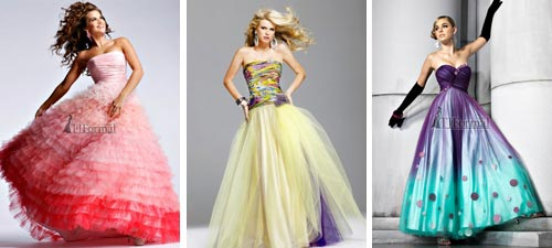 colorful bridal gowns