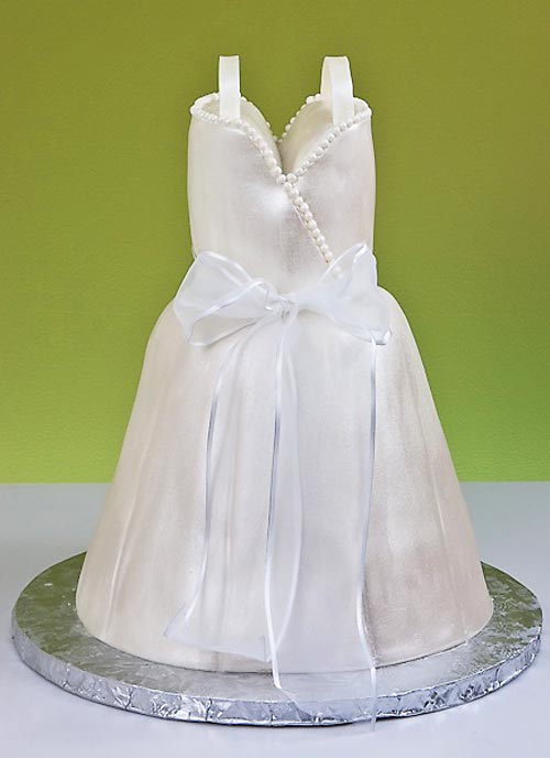 wedding dress cake designs