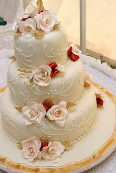 Beautiful Crafted Fondant Wedding Cake Designs