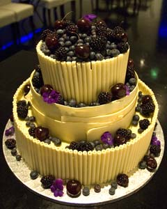 fruit wedding cake
