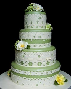 Lovely Green Wedding Cakes