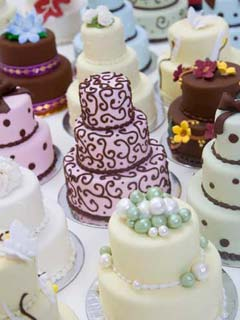 Miniature Wedding Cakes In All Sorts Of Colours