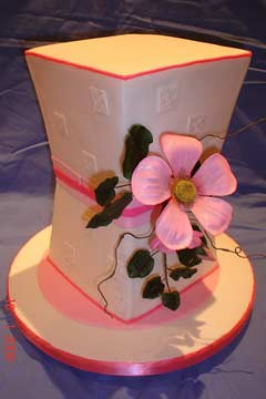 art deco wedding cake design