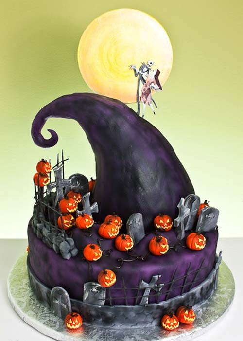 Nightmare Before Christmas Cake Designs