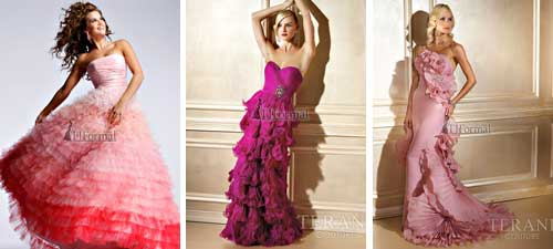 gallery of pink wedding dresses