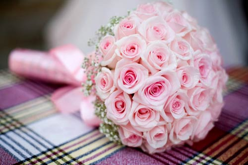 pink rose posy bouquet