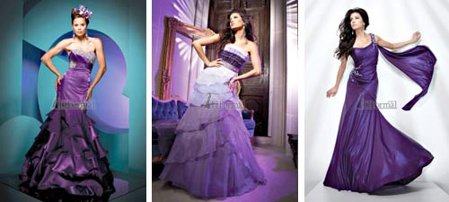 Purple Wedding Dress Gallery
