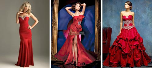 Red Wedding Dress Gallery