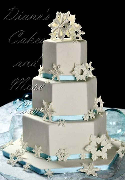 Hexagon Shaped Wedding Cakes