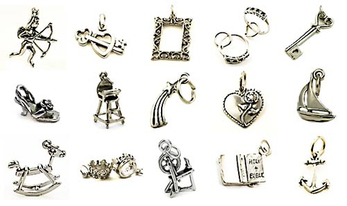 Victorian wedding cake charms