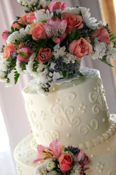 Cch lm bnh wedding cake flowers 1 Ngt ngo v lng mn vi bnh ci hoa