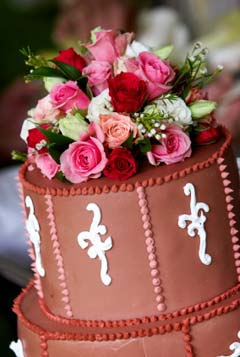 Cch lm bnh wedding cake flowers 4 Ngt ngo v lng mn vi bnh ci hoa