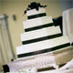 pictures of black and white wedding cakes
