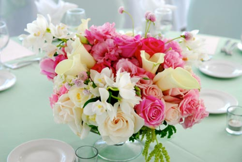 Fresh Flower Wedding Flower Centerpiece