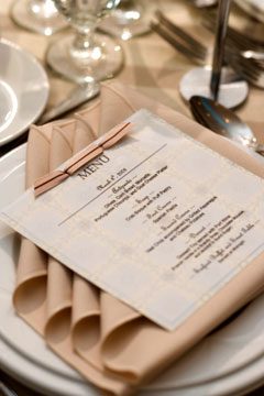 Wedding table setting ideas; wedding napkin folder into a square simply fold in the corners and place the menu\u0027s on top. The reception staff could do this ... & Wedding Reception Table Decorations - Wedding Table Setting Ideas