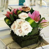 Floral centerpiece as wedding table decorations