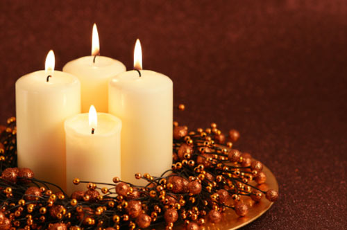 wedding reception decorations Wedding candle centerpieces Perfect fall
