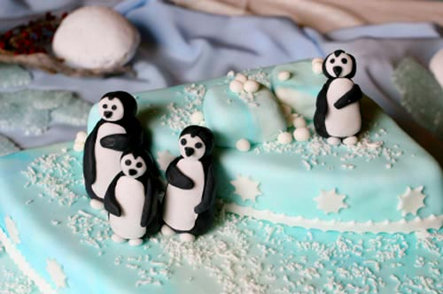 winter cakes wedding novelty