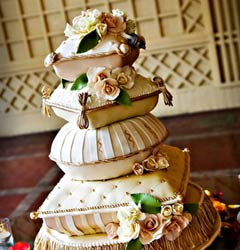exotic wedding cake