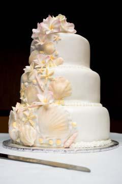Beach Wedding Cakes And Seashell