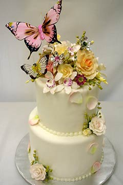 butterfly wedding cake designs