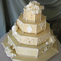 hexagon wedding cakes