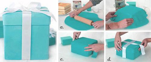How To Make A Blue Tiffany Gift Box Cake