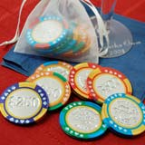 Chocolate Las Vegas Poker Chips