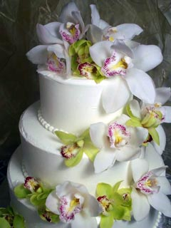 orchid wedding cake designs