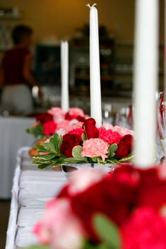 wedding candle centerpiece