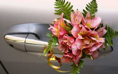 large decorative corsage wedding car decorations