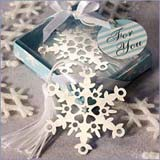 Winter & Snowflake Wedding Favors