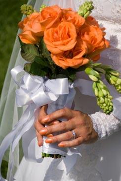 orange bridal bouquet pictures 3