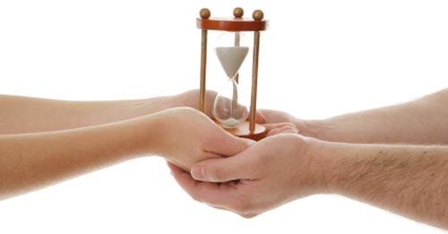 wedding timeline hourglass