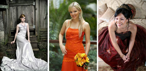 coloured bridal gowns