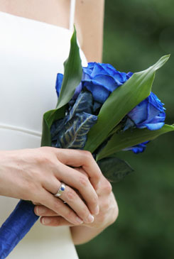 blue bridal bouquet pictures 1