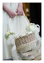 flowergirl basket bouquet - bridal bouquets
