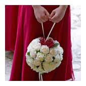 pomander bouquet, kissing ball bouquet - bridal bouquets