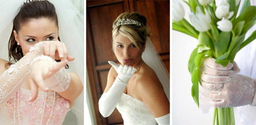 bridal gloves accessories