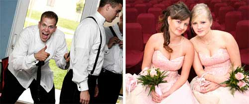 bridal party - bridesmaids groomsmen