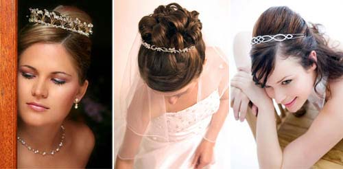 Remember some hairstyles can add inches to your height, and shorter brides